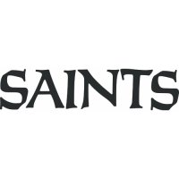 New Orleans Saints Script Logo  Light Iron-on Stickers (Heat Transfers) version 1