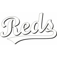 Cincinnati Reds Script Logo  Light Iron-on Stickers (Heat Transfers) version 1