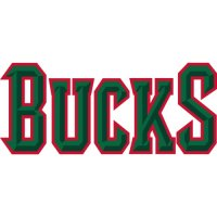 Milwaukee Bucks Script Logo  Light Iron-on Stickers (Heat Transfers) version 2