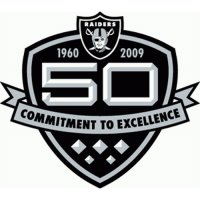 Oakland Raiders Anniversary Logo  Light Iron-on Stickers (Heat Transfers)
