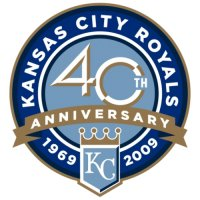 Kansas City Royals Anniversary Logo  Light Iron-on Stickers (Heat Transfers)