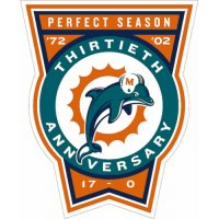 Miami Dolphins Anniversary Logo  Light Iron-on Stickers (Heat Transfers)