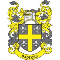 Bankes Coat of Arms Light Iron On Stickers (Heat Transfers)