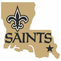 New Orleans Saints Alternate Logo  Light Iron-on Stickers (Heat Transfers)