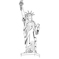 Statue of Liberty Light Iron On Stickers (Heat Transfers) version 2