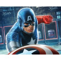 Captain America light-colored apparel iron on stickers 12