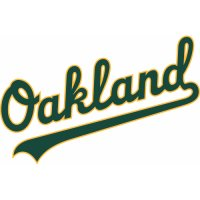 Oakland Athletics Script Logo  Light Iron-on Stickers (Heat Transfers) version 3