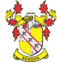 Benson Coat of Arms light-colored apparel iron on stickers
