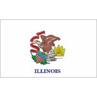 Illinois State Flag Light Iron On Stickers (Heat Transfers)