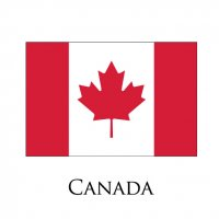 CANADA Flags light iron ons