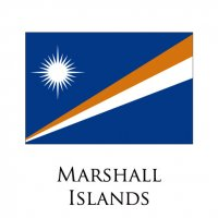 MARSHALL ISLANDS Flags light iron ons