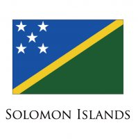 SOLOMON ISLANDS Flags light iron ons