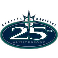 Seattle Mariners Anniversary Logo  Light Iron-on Stickers (Heat Transfers) version 2