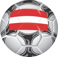 Austria Soccer Light Iron-on Stickers (Heat Transfers)