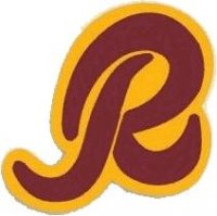Washington Redskins Alternate Logo  Light Iron-on Stickers (Heat Transfers)
