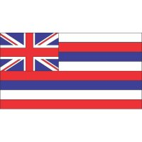 Hawaii State Flag Light Iron On Stickers (Heat Transfers)
