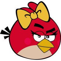 Femal Red Bird-Angry Birds Light Iron On Stickers (Heat Transfers)