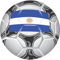 Argentina Soccer Light Iron-on Stickers (Heat Transfers)