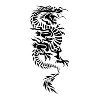 Oriental Dragon Light Iron On Stickers (Heat Transfers)
