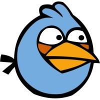 Blue Bird-Angry Birds Light Iron On Stickers (Heat Transfers)