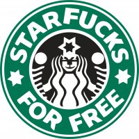 Star Fuck for Free light t shirt iron on transfer
