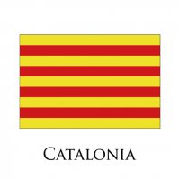 CATALONIA Flags light iron ons