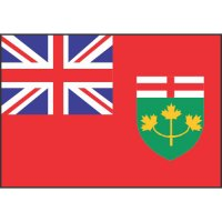 Ontario Flag Light Iron On Stickers (Heat Transfers)