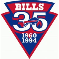 Buffalo Bills Anniversary Logo  Light Iron-on Stickers (Heat Transfers)