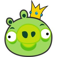 King Pig-Angry Birds Light Iron On Stickers (Heat Transfers) version 1