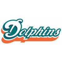 Miami Dolphins Script Logo  Light Iron-on Stickers (Heat Transfers) version 4