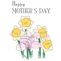 Happy Mother's Day Light Iron On Stickers (Heat Transfers) version 5
