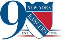 New York Rangers 2017 Anniversary Logo Light Iron-on Stickers (Heat Transfers) version 1
