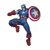 Captain America light-colored apparel iron on stickers 5