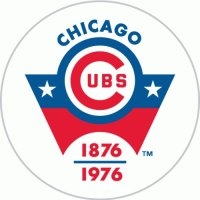 Chicago Cubs Anniversary Logo  Light Iron-on Stickers (Heat Transfers)
