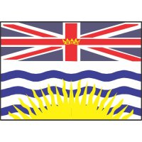 British Columbia Flag Light Iron On Stickers (Heat Transfers)
