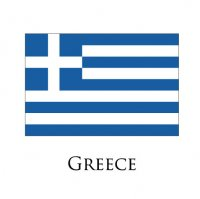 GREECE Flags light iron ons