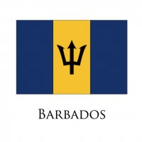 BARBADOS Flags light iron ons