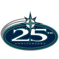 Seattle Mariners Anniversary Logo  Light Iron-on Stickers (Heat Transfers) version 1