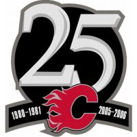 Calgary Flames Anniversary Logo  Light Iron-on Stickers (Heat Transfers)