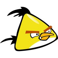 Yellow Bird-Angry Birds Light Iron On Stickers (Heat Transfers)