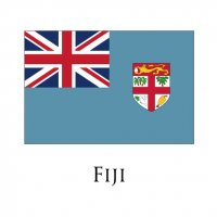 FIJI Flags light iron ons