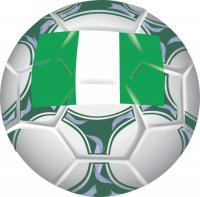 Nigeria Soccer Light Iron-on Stickers (Heat Transfers)