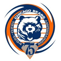 Chicago Bears Anniversary Logo  Light Iron-on Stickers (Heat Transfers)