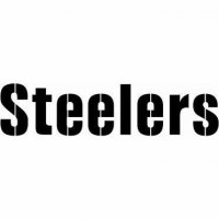 Pittsburgh Steelers Script Logo  Light Iron-on Stickers (Heat Transfers) version 1