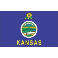 Kansas State Flag Light Iron On Stickers (Heat Transfers)