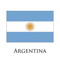 ARGENTINA Flags light iron ons