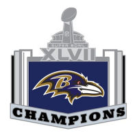 Baltimore Ravens 2012 Champion Logo Light Iron-on Stickers (Heat Transfers)