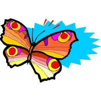 Butterfly Light Iron On Stickers (Heat Transfers) version 28