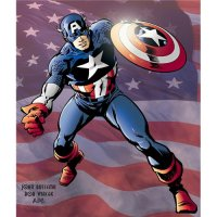 Captain America light-colored apparel iron on stickers 1
