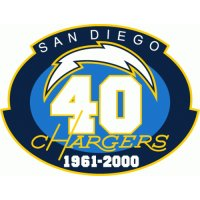San Diego Chargers Anniversary Logo  Light Iron-on Stickers (Heat Transfers)